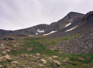 Desde el Collado veiem el Gran Bachimala i total la cresta de la Punta del Sabre